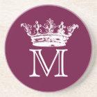 Vintage Crown Monogram Coaster