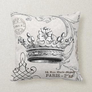 Vintage Crown...pillow Throw Pillow