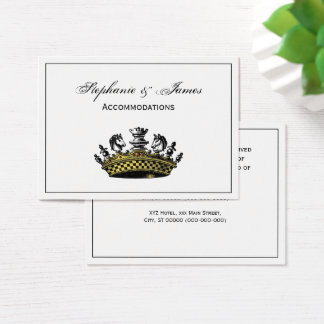 Vintage Crown With Chess Pieces Color Business Card