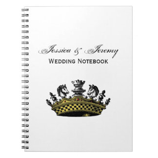 Vintage Crown With Chess Pieces Color Notebook