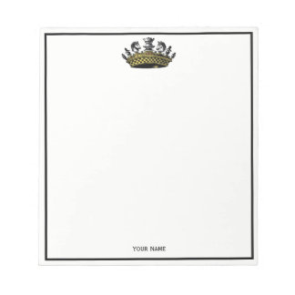 Vintage Crown With Chess Pieces Color Notepad