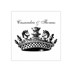 White King/'s Crown Chess Piece Self Inking Stamp