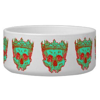 Vintage Crowned Skulls Dog Food Bowls