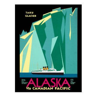 Vintage Cruise Line Alaska Glacier Travel Postcard