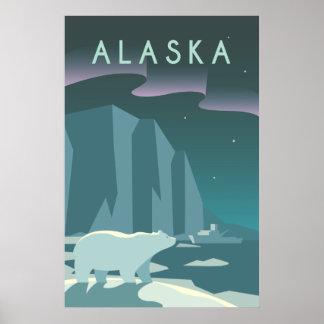 Vintage Cruise Line Alaska Glacier Travel Poster