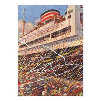 Vintage Cruise Ship Bon Voyage Party Invitation