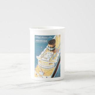 VINTAGE CRUISE SHIP POSTER - TEA CUP