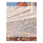 Vintage Cruise Ship Vacation; Bon Voyage Party! Personalized Letterhead