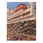 Vintage Cruise Ship Vacation; Bon Voyage Party! Post Cards