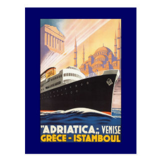 Vintage Cruise Ship Venise Postcard