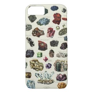 Vintage crystal gemstone gems minerals print iPhone 8/7 case