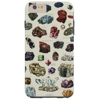Vintage crystal gemstone gems minerals print tough iPhone 6 plus case