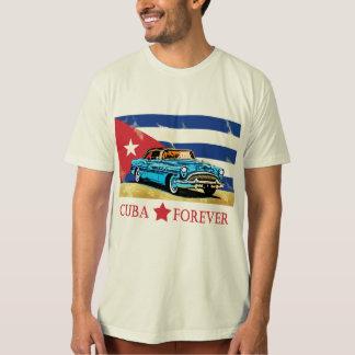 Vintage Cuba Flag Classic Car T-Shirt