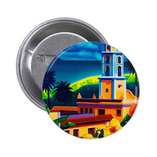 Vintage Cuba Travel 2 Inch Round Button