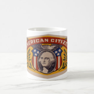 Vintage Cuban Cigar Label Art, American Citizen Coffee Mug