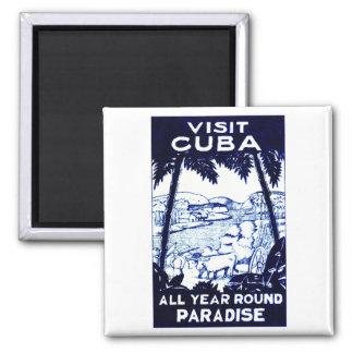 Vintage Cuban Travel Poster Magnet