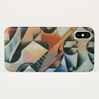 Vintage Cubism, Guitar (Banjo) Glasses, Juan Gris iPhone X Case