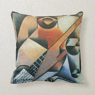 Vintage Cubism, Guitar (Banjo) Glasses, Juan Gris Throw Pillow