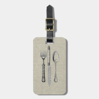 Vintage Culinary knife fork and spoon Luggage Tag