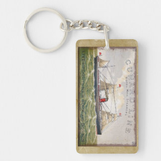 Vintage Cunard Line Royal Mail Steamers Keychain
