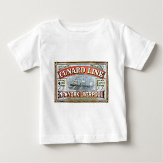 Vintage Cunard Line Sailing New York to Liverpool Baby T-Shirt