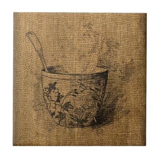 Vintage Cup of Tea Tile
