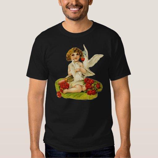 Vintage Cupid on Lily Pad Tshirt