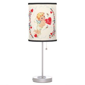 Vintage Cupid Valentine Lamp