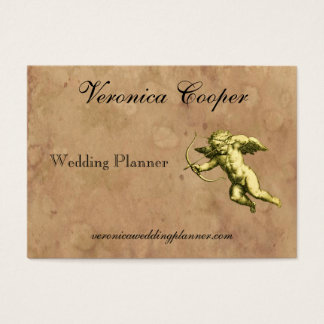 Vintage Cupid Wedding Planner Business Card