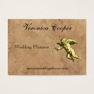 Vintage Cupid Wedding Planner Business Card
