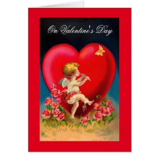 Vintage Cupid's Music Card