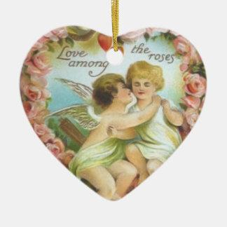 Vintage Cupids Valentine Ornament