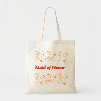Vintage Curved Floral Maid of Honor