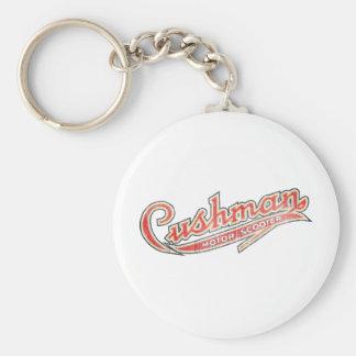 Vintage Cushman Designs Basic Round Button Keychain