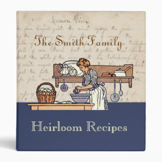 Vintage Custom Heirloom Family Recipe Binder