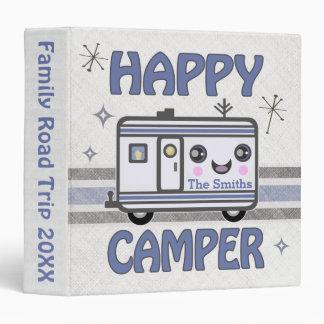 Vintage Custom Kawaii Happy Camper Binder
