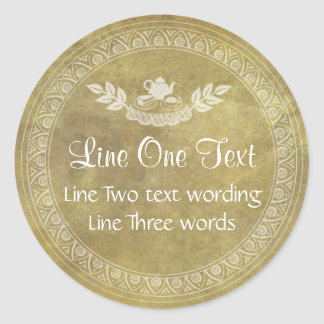 Vintage Custom Template Food Gift Sticker