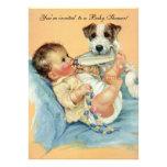 Vintage Cute Baby Bottle Puppy Dog, Baby Shower