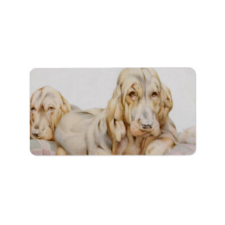 Vintage Cute Bloodhounds, Puppy Dogs by EJ Detmold