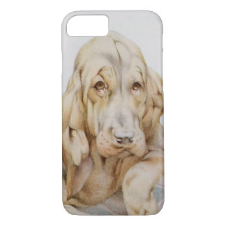 Vintage Cute Bloodhounds, Puppy Dogs by EJ Detmold iPhone 7 Case