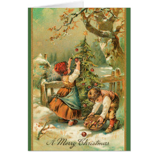 Vintage Cute Children in Snow Christmas Cards