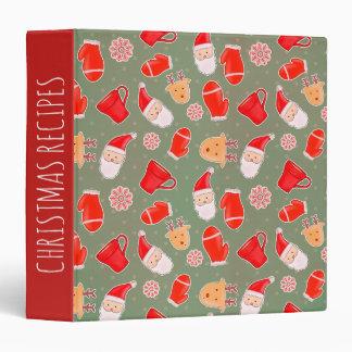 Vintage Cute Christmas Pattern Binder