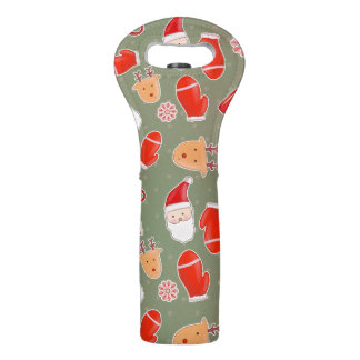 Vintage Cute Christmas Pattern Wine Bag