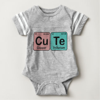 Vintage CuTe (Copper + Tellurium) Periodic Table Baby Bodysuit