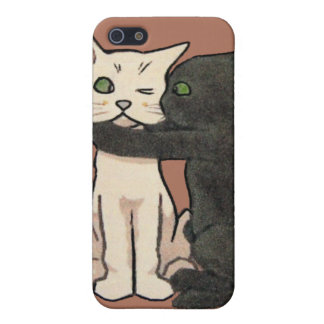 Vintage Cute Kissing Cat Couple iPhone Case iPhone 5/5S Cover