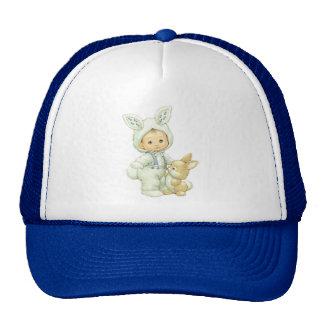 Vintage Cute Little Boy Dressed As Easter Bunny Trucker Hat
