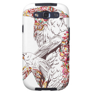 vintage cute parrots and animals galaxy s3 case