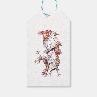 vintage cute parrots and animals gift tags