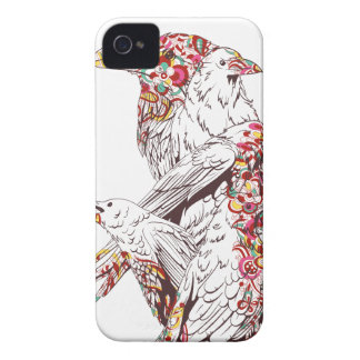 vintage cute parrots and animals iPhone 4 Case-Mate cases
