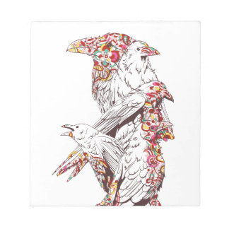 vintage cute parrots and animals notepad